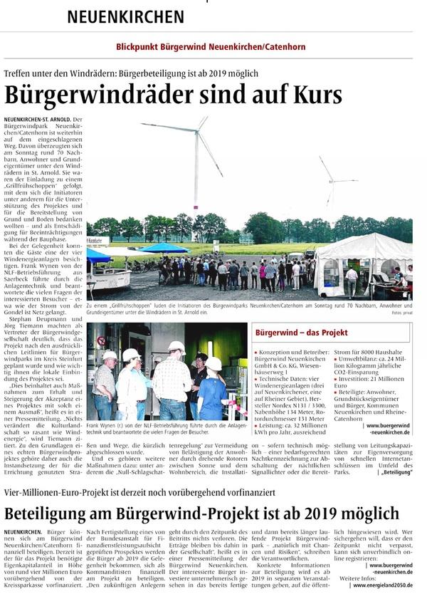 MV-Bericht vom 12.06.2018 Grillfrühschoppen